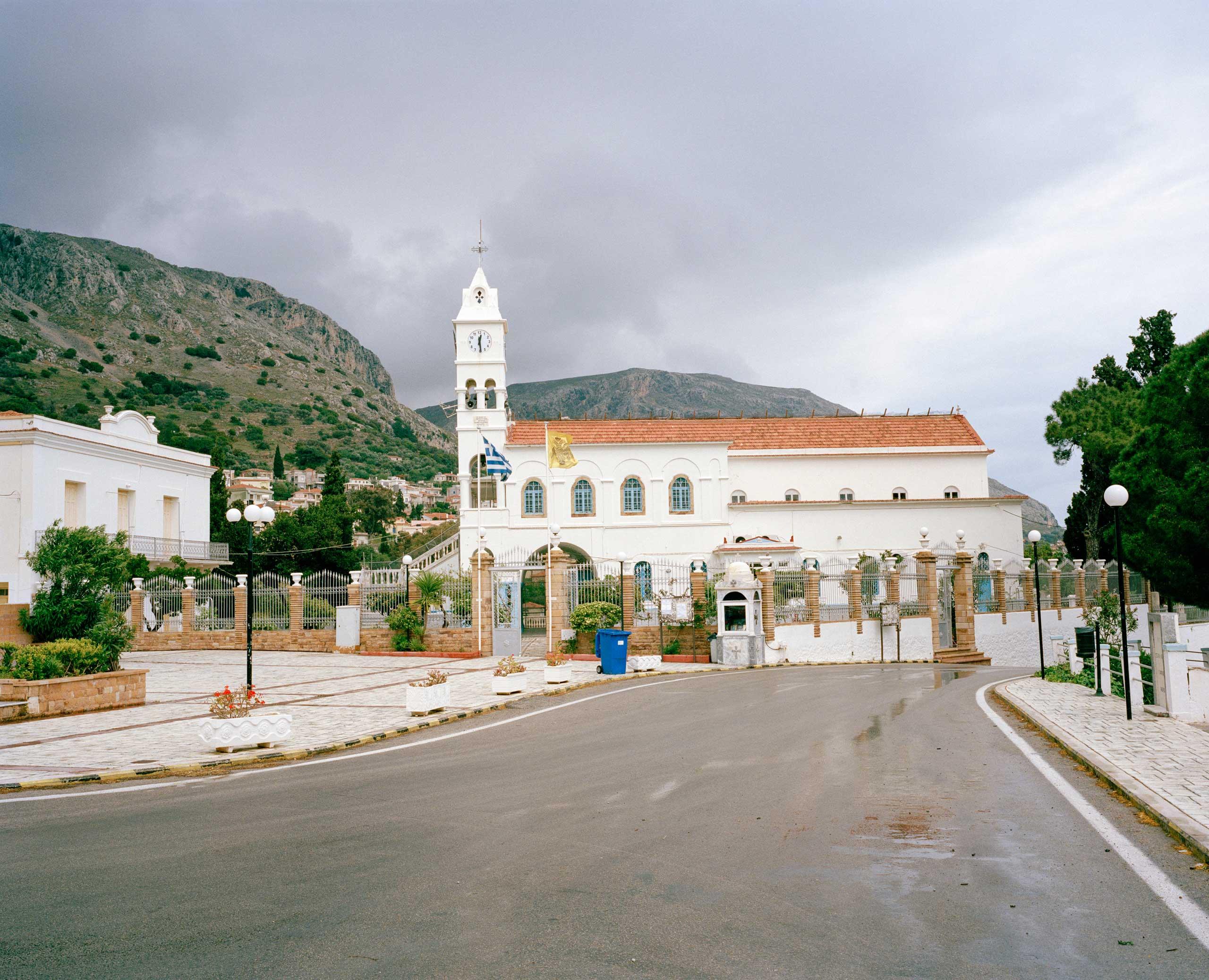 The church of Panageia Erithiani in Vrontados, Chios, Greece.