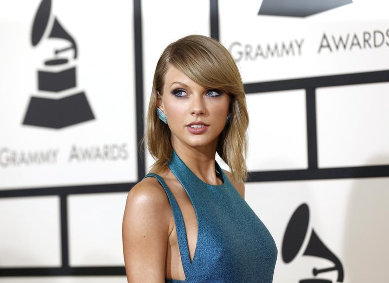 Pop singer Taylor Swift at the 57th annual Grammy Awards in Los Angeles, California February 8, 2015.