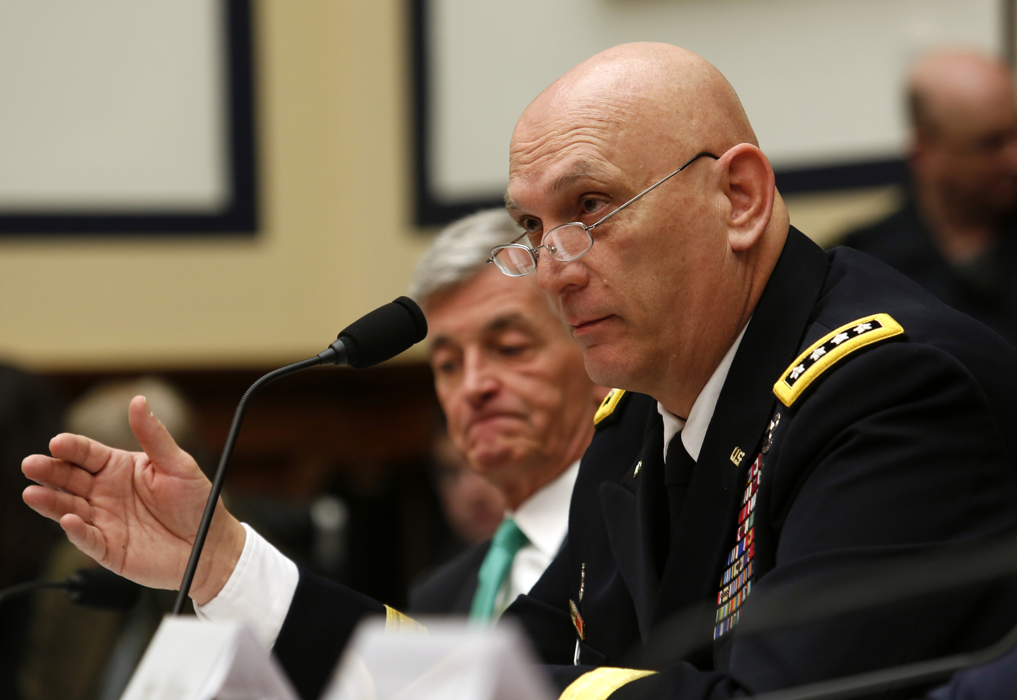 General Raymond Odierno, the Army's chief of staff, testifies before the House Armed Services Committee on Tuesday.