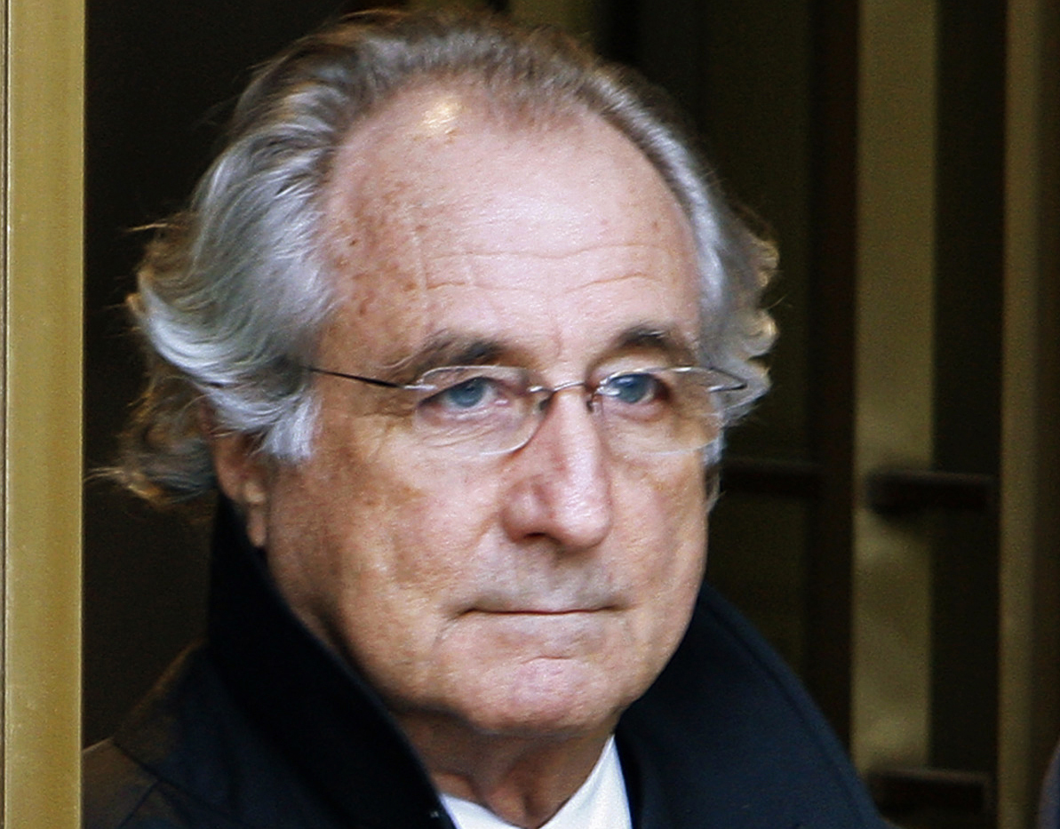 Bernard Madoff exits the Manhattan federal court house in New York in this Jan. 14, 2009, file photo