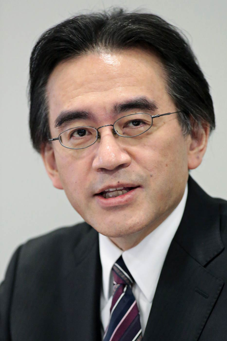 Nintendo President and CEO Satoru Iwata speaks during a news conference in Osaka, Japan, on Oct. 29, 2014.
