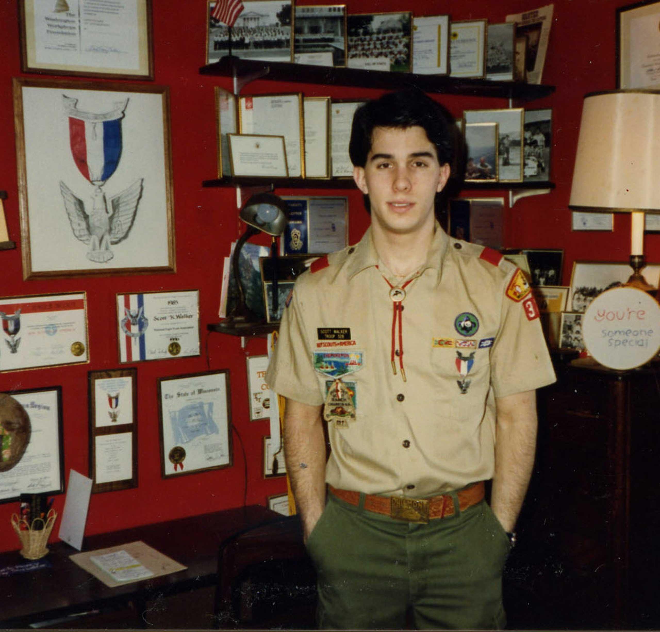 Scott Walker as an Eagle Scout in 1986.