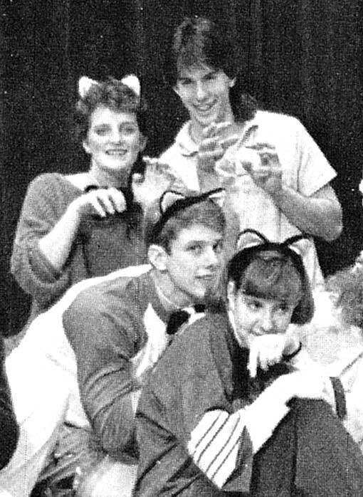 Scott Walker (upper right) in Swing Choir during his senior year at Delavan Darien High School in Delavan, Wis., 1986