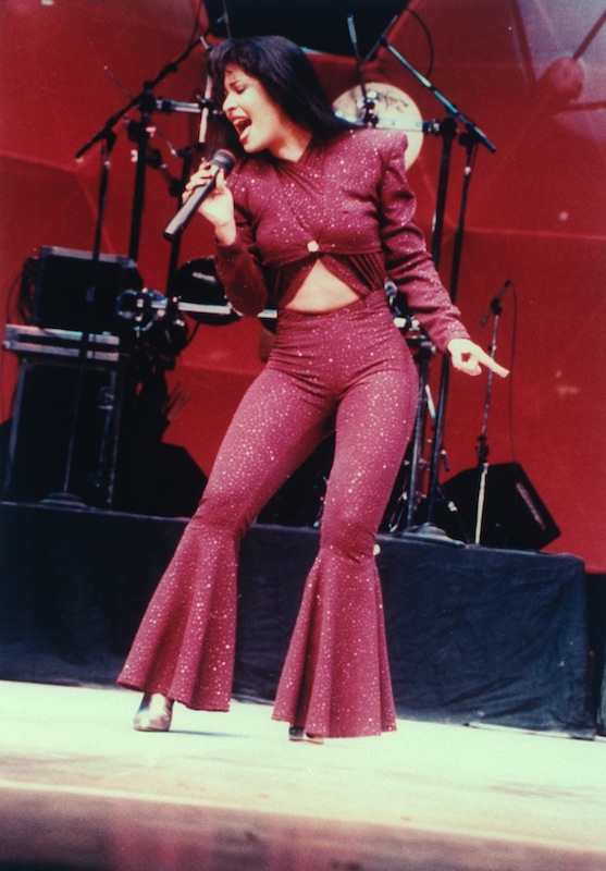 Selena performing in concert one month before she was killed, in February of 1995