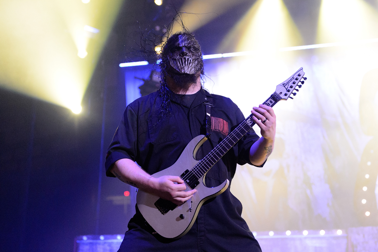 Mick Thomson of Slipknot performs at at the Allstate Arena on Nov. 28, 2014 in Chicago.