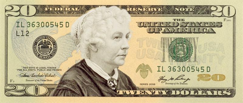 Elizabeth Cady Stanton on the $20
