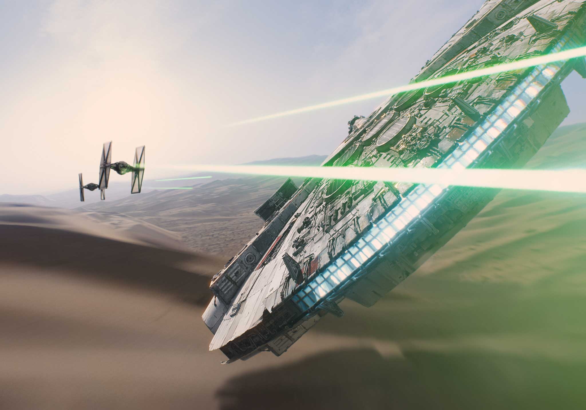 In this image released by Disney, a scene is shown from the upcoming film,  Star Wars: The Force Awakens,  expected in theaters on Dec. 18, 2015.