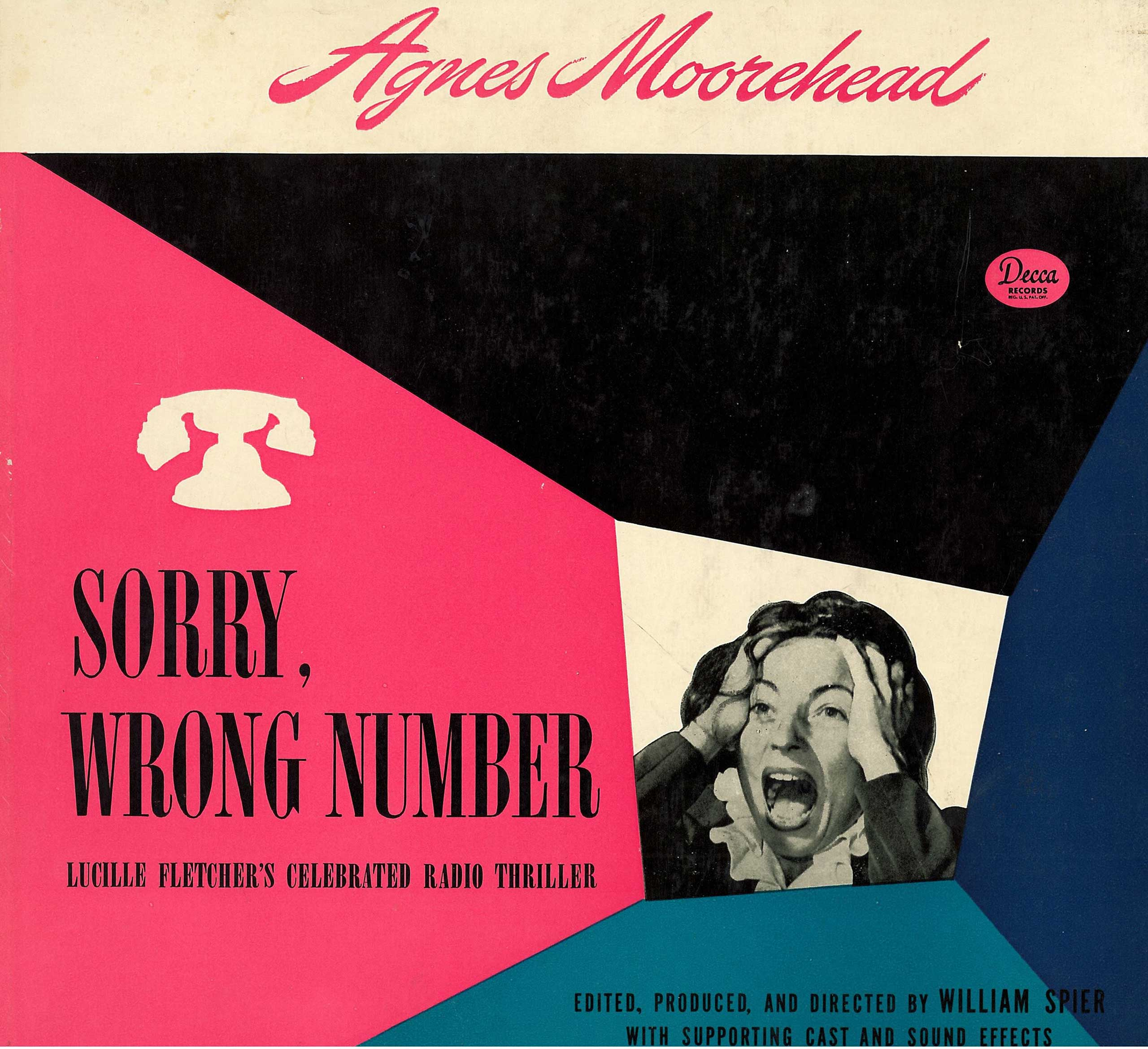 """Orson Welles once called """"Sorry, Wrong Number,"""" an episode of the """"Suspense"""" radio series, the single greatest radio script ever written. (Decca/Library of Congress)"""
