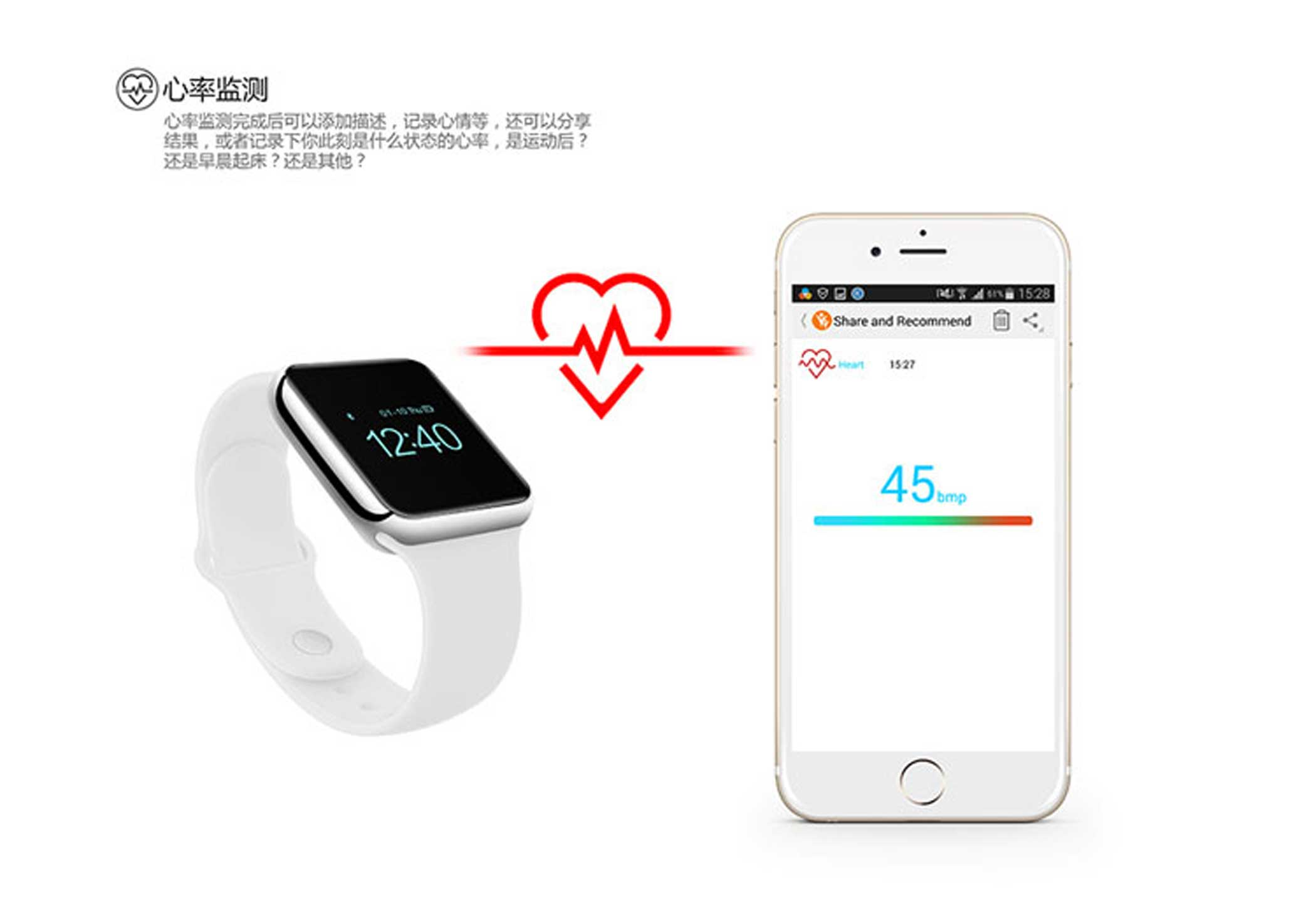 Gemini TB Creative Design's iWatch ($156) supports QQ and WeChat and is compatible with Android, Xiaomi and iOS phones. The ad doesn't claim the wearable is an Apple Watch specifically.