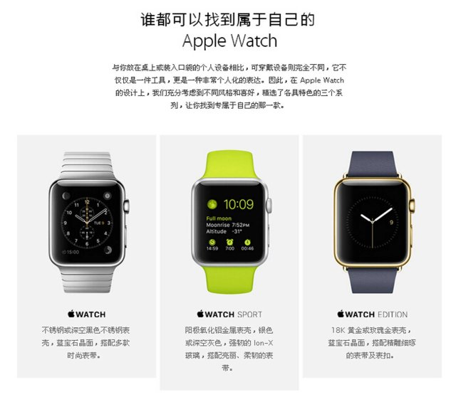 Similar to Apple's Watch it comes in Standard, Sport, and Edition versions.