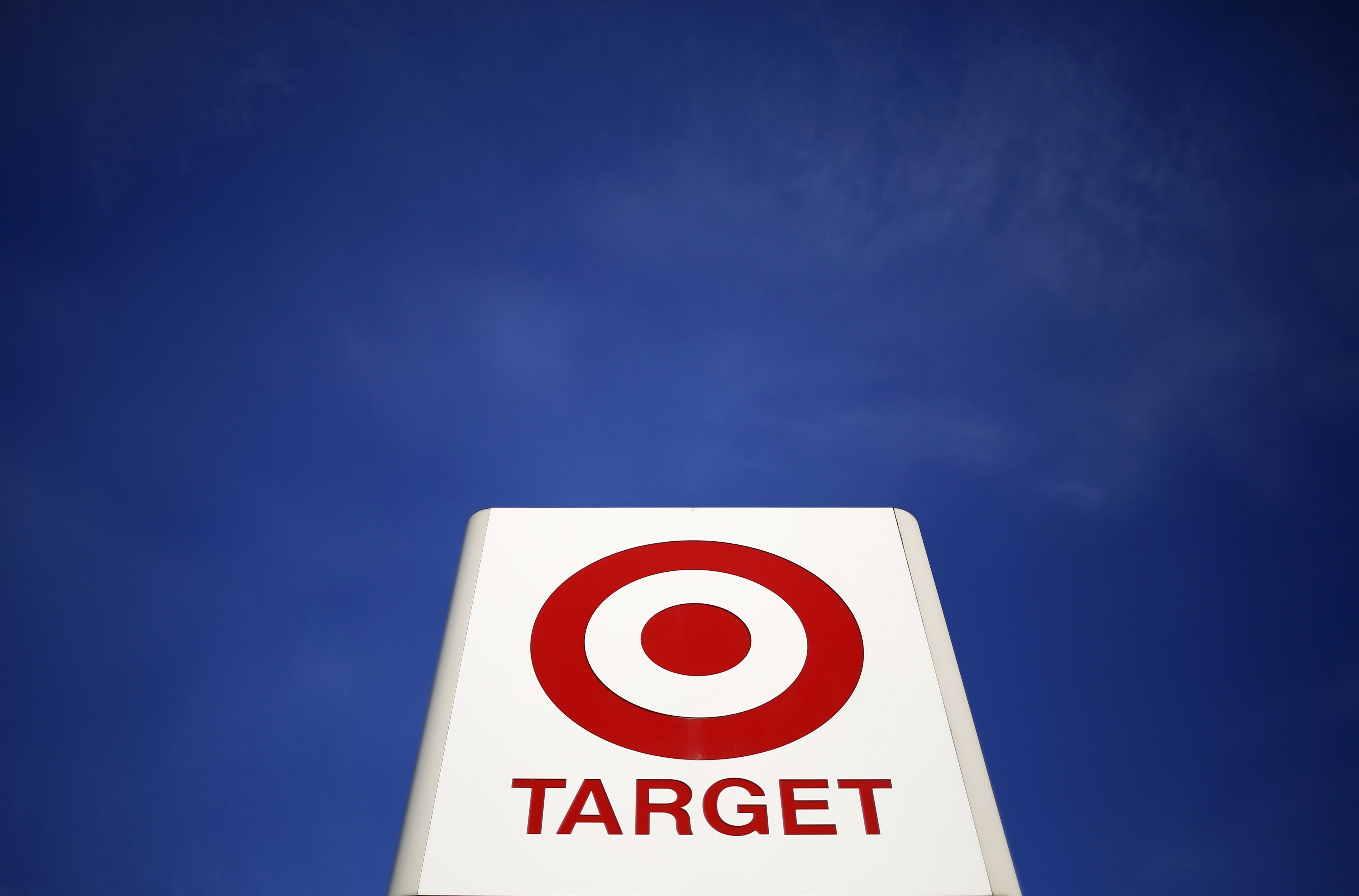 A sign for a Target store is seen in the Chicago suburb of Evanston, Illinois on Feb. 10, 2015.