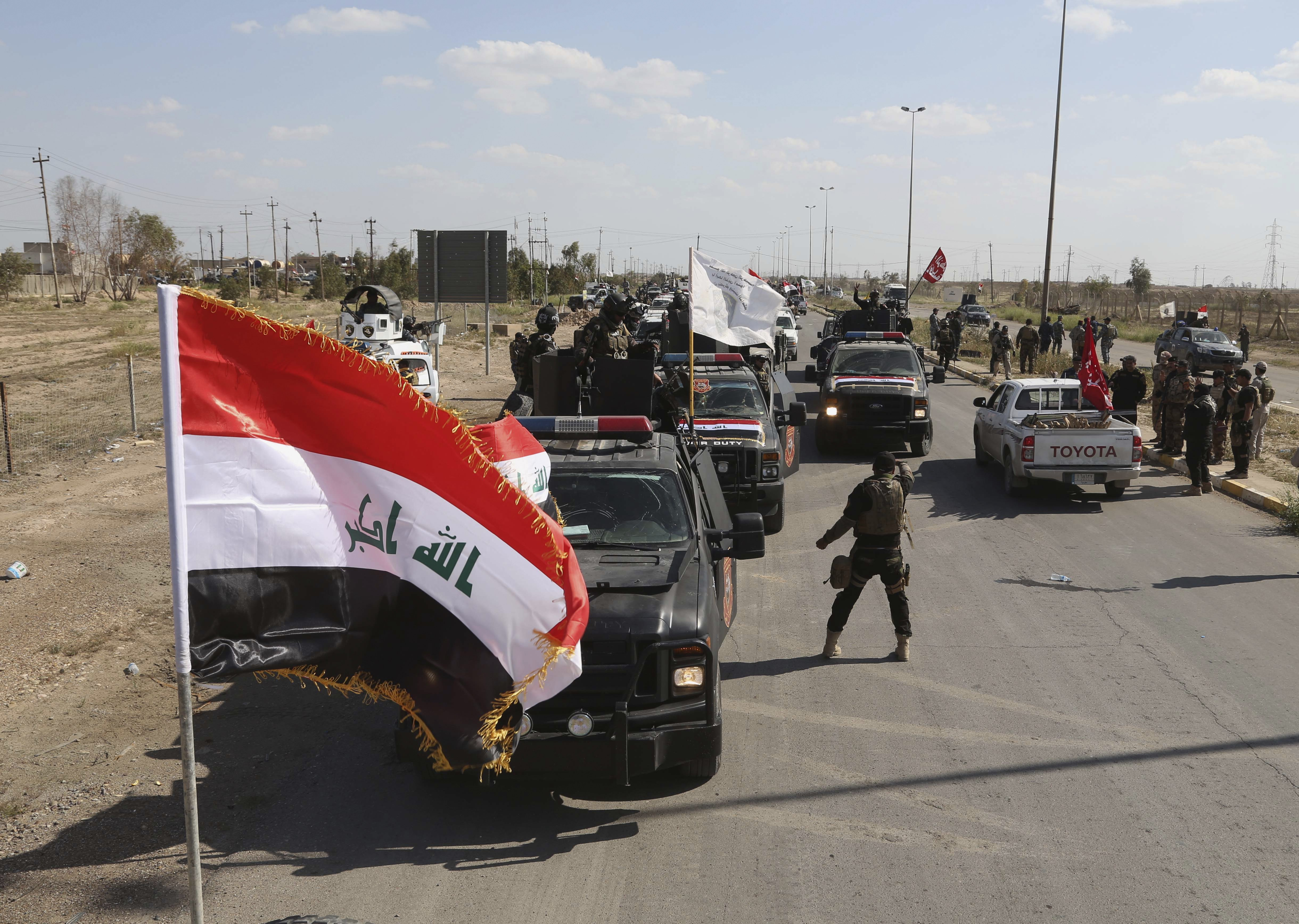 Iraqi security forces prepare to attack ISIS's positions in Tikrit, north of Baghdad, Iraq, on March 26, 2015