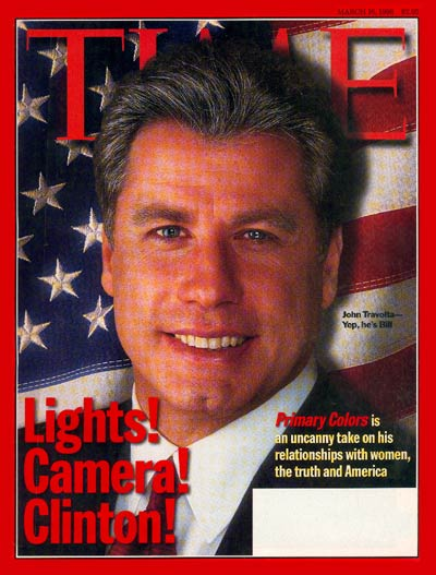 John Travolta as Bill Clinton, March 16, 1998