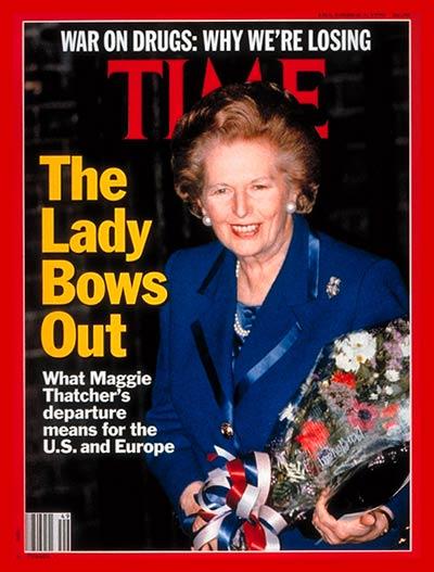 Margaret Thatcher, Dec. 3, 1990