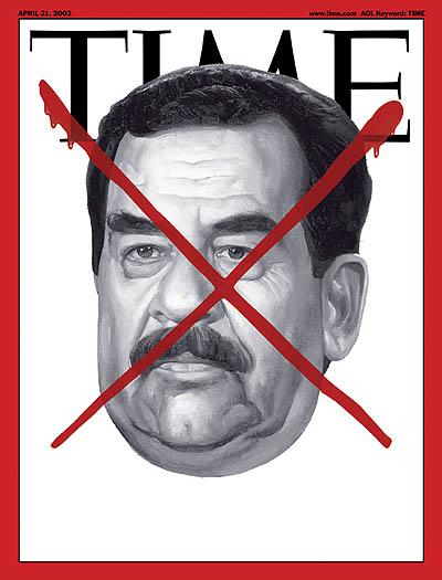 Saddam Hussein, april 21, 2003