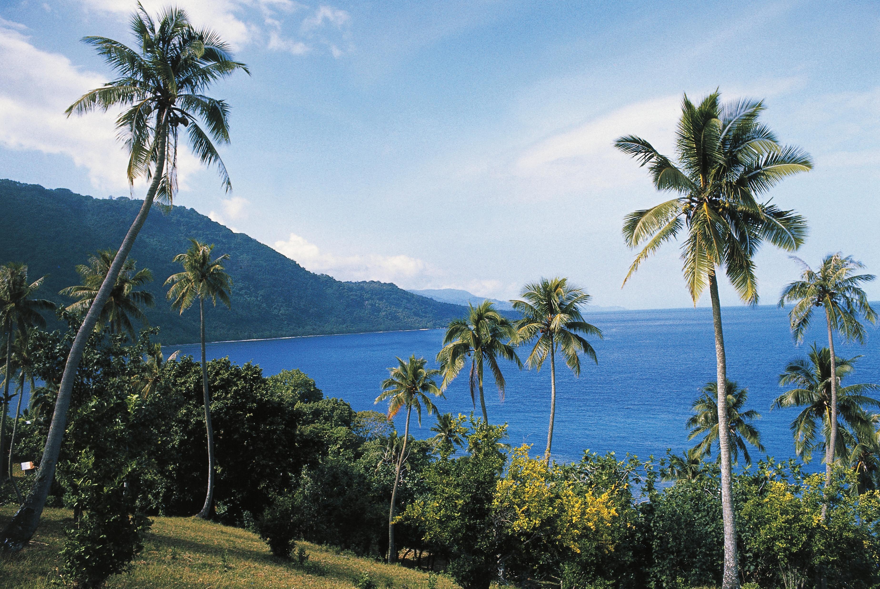 The coastline near Melsisi, Pentecost Island, Vanuatu.