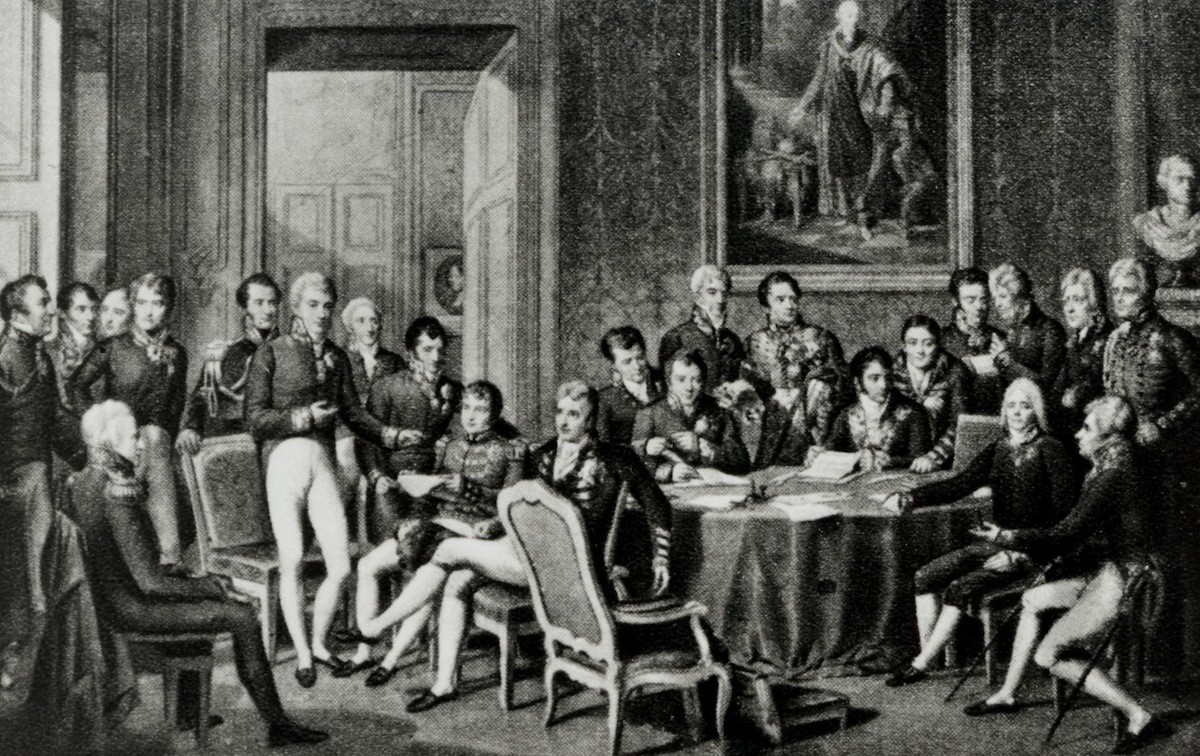 Congress of Vienna, 1814, after painting by J B Isabey