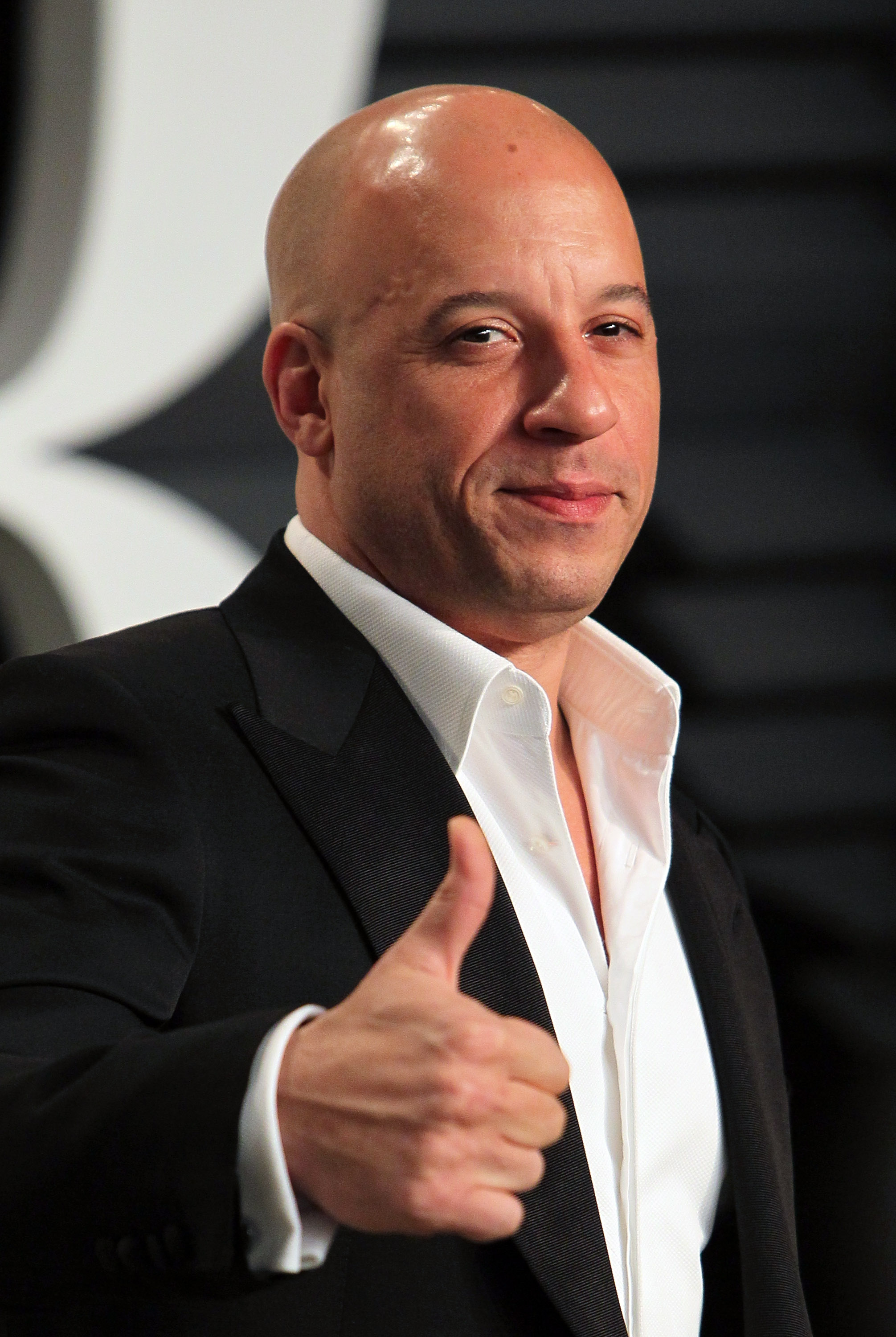 Actor Vin Diesel attends the 2015 Vanity Fair Oscar Party hosted by Graydon Carter at the Wallis Annenberg Center for the Performing Arts on Feb. 22, 2015 in Beverly Hills.