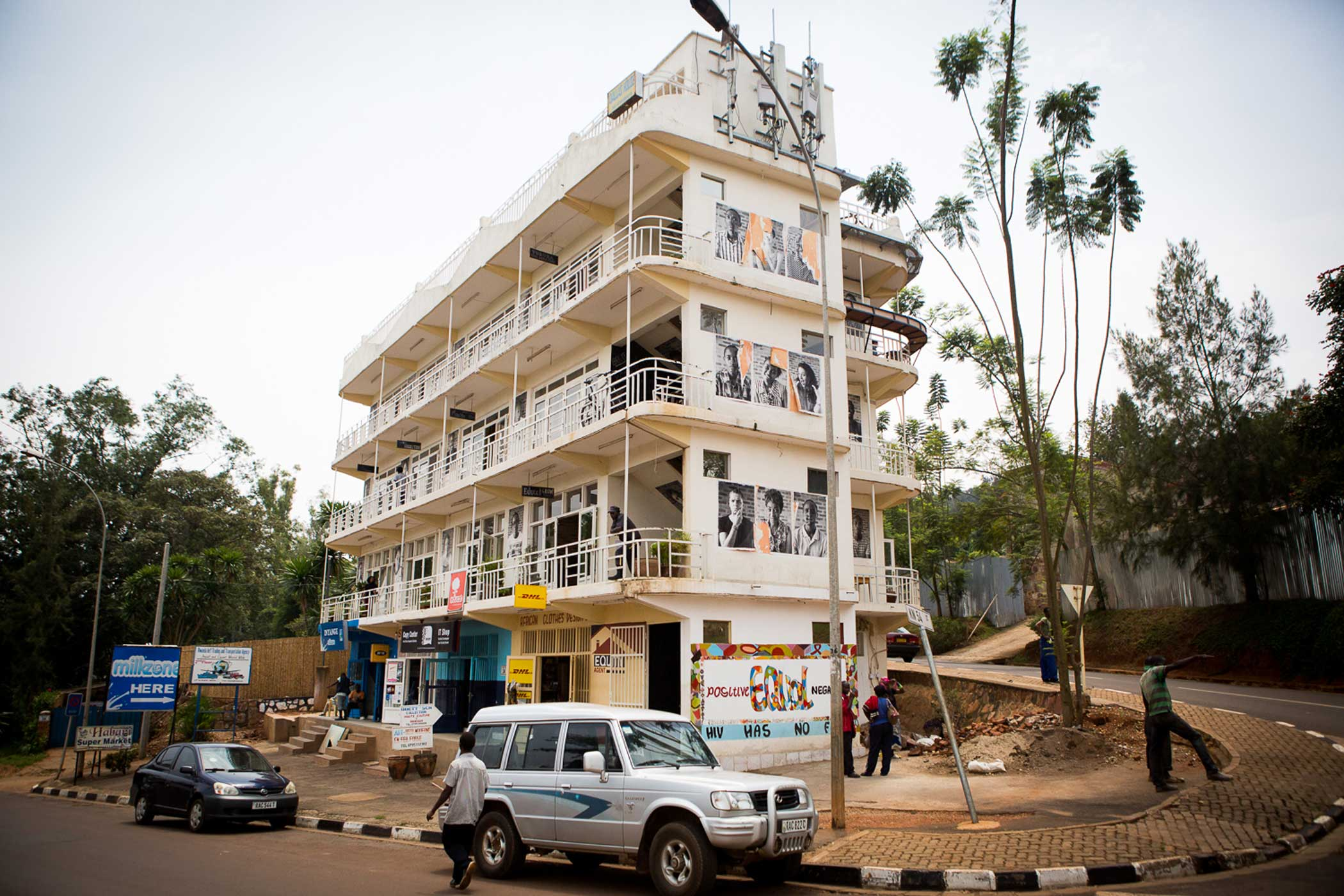 The Office , a coworking space in Kigali. It is a shared office where tech entrepreneurs, consultants, freelancers, small business owners, and remote employees rent desk space and share the costs of a full-service office.