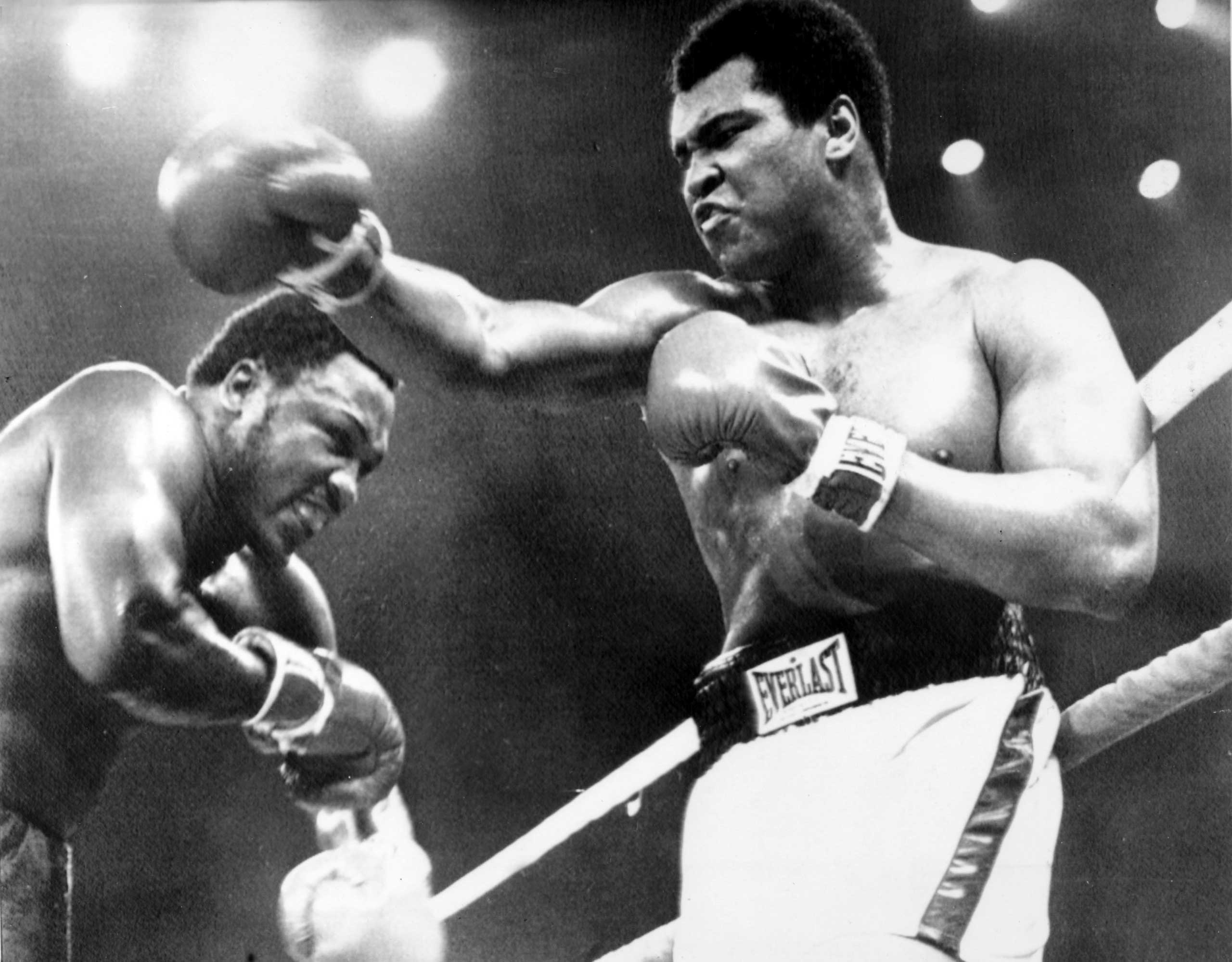 "<b>Muhammad Ali vs. Joe Frazier, Oct. 1, 1975</b> As close to death as he'd ever been. And that's how the winner described it. Little wonder that the ""Thrilla in Manila"" (aka Muhammad Ali vs. Joe Frazier III), tops TIME's list of greatest ever fights. The pair entered the decisive third heavyweight fight at 1-1 and the searing Philippine heat made conditions as close to hell as was possible. From the start there was nothing humane about the way the pair went at each other. You feel that had it not been for the 15-round limit and, ultimately, Frazier's trainer Eddie Futch throwing in the towel at the end of the 14th, they would still be boxing today. ""I want him, boss,"" screamed Frazier. Futch simply replied, ""It's all over. No one will forget what you did here today."" As for Ali, in typically modest fashion, he described his opponent as, ""the greatest fighter of all time, next to me."""