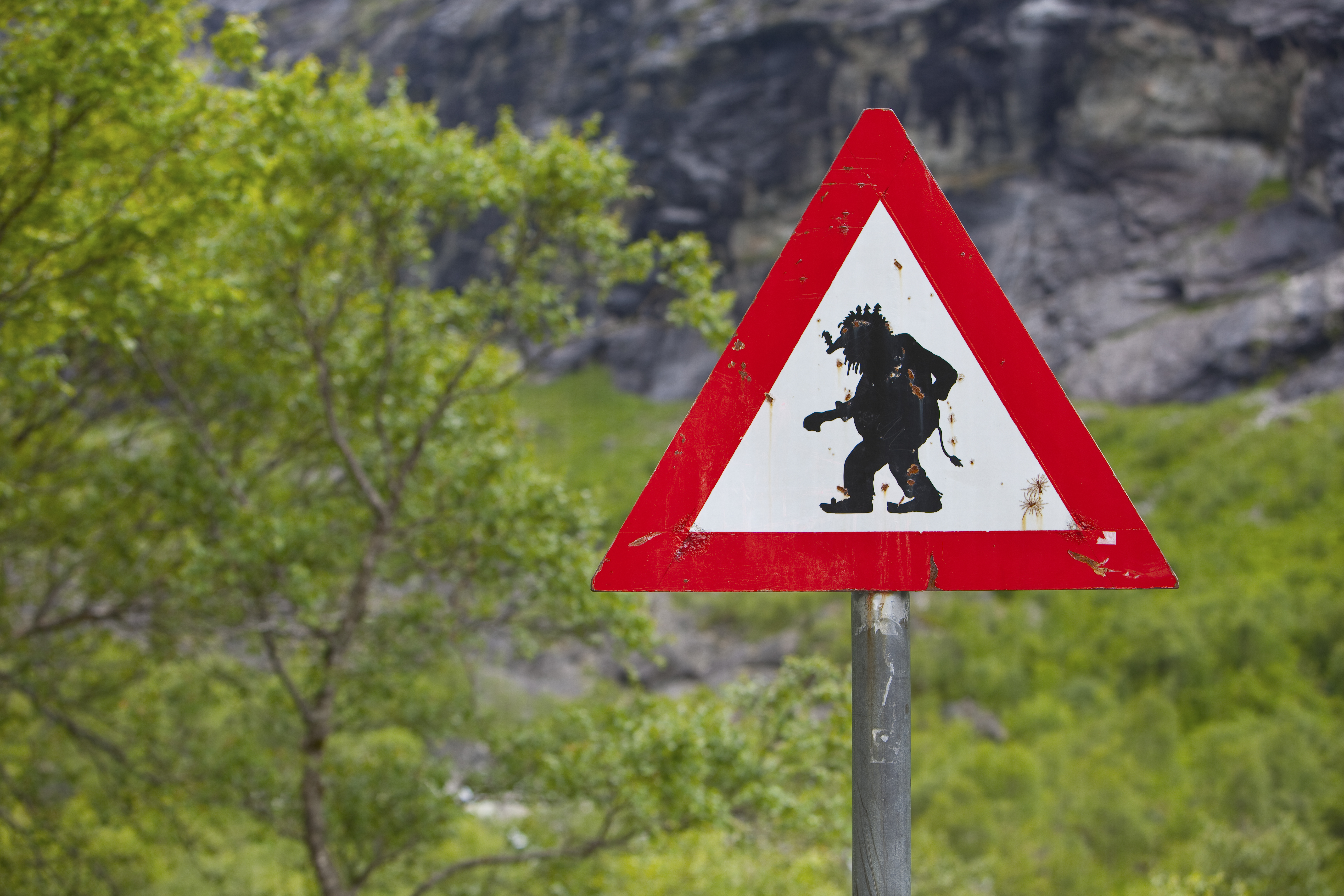 Troll Road Sign, Trollstigen