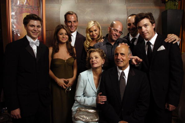 The cast of  Arrested Development  after winning Outstanding Comedy Series at the 56th Annual Primetime Emmy Awards.