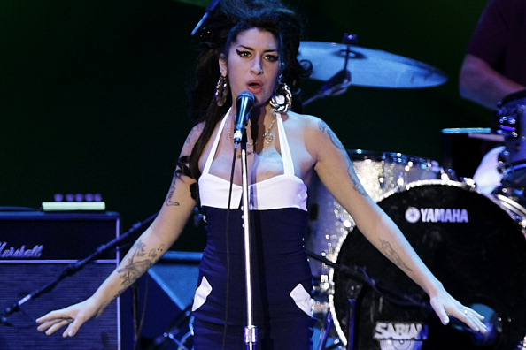 Amy Winehouse performs on stage at Arena Anhembi in São Paulo on Jan. 15, 2010