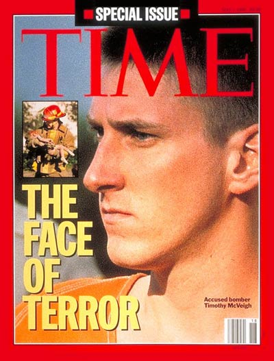 Timothy McVeigh on the May 1, 1995, cover of TIME