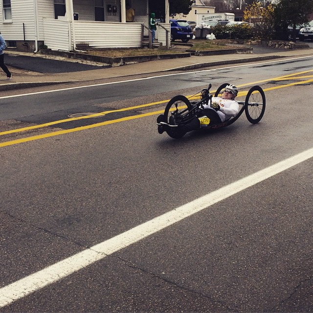 Dana shared this photo of a handcyclist in the Boston Marathon  Handcycle #Boston #BostonMarathon #MarathonMonday