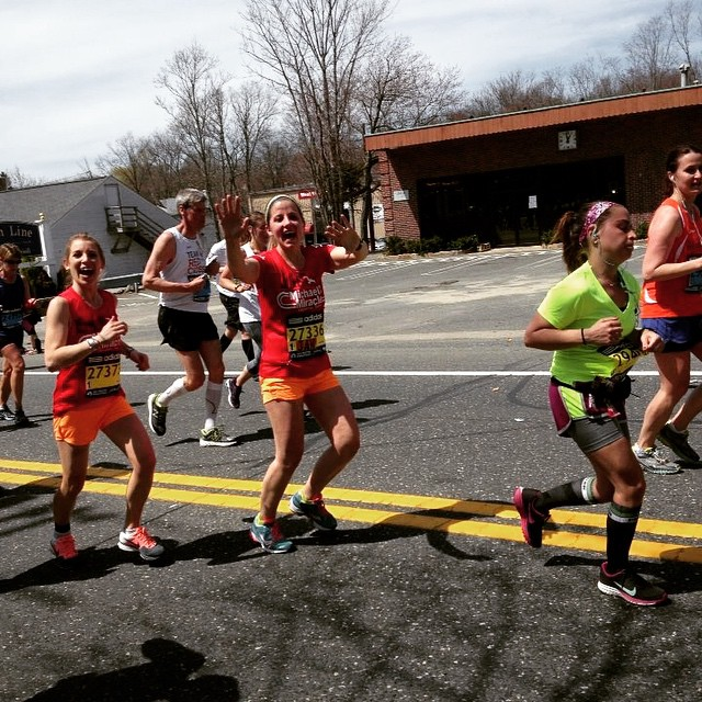 Wishing this lady the best of luck today!!! #bostonmarathon. @jancaruso  posted by Ditto82.