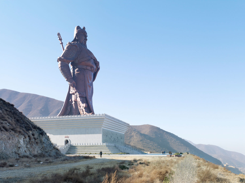 Guan Yu Statue, 80m (262 ft,), built in 2010. Yuncheng, China.