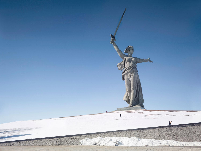 The Motherland Call, 87m (285 ft.), built in 1967. Volgograd, Russia.