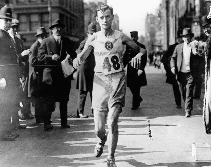 Winner of 1916 Boston Marathon, Arthur Roth.
