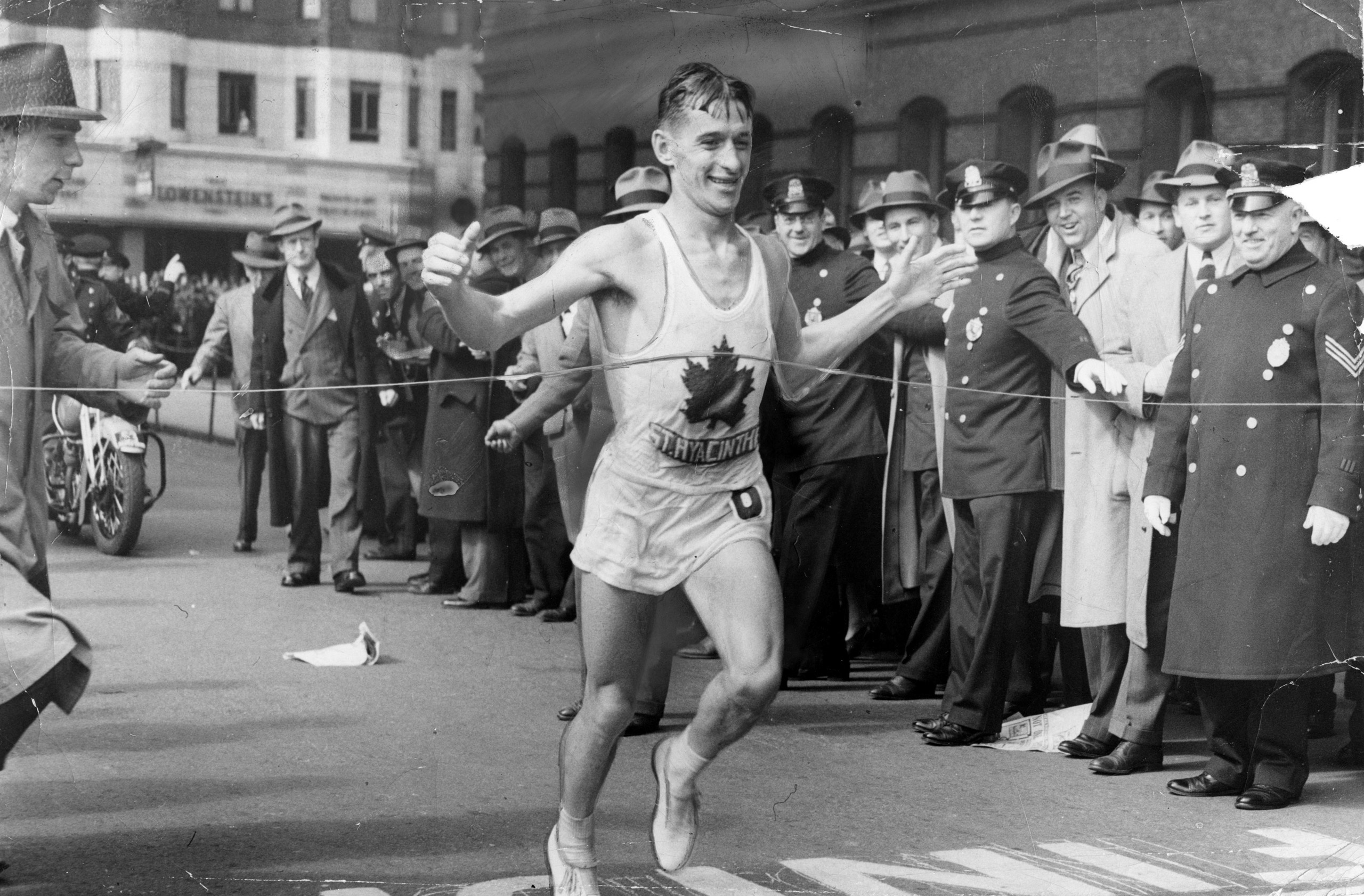 Gerard B. Cote, winner of the Boston Marathon in 1940.