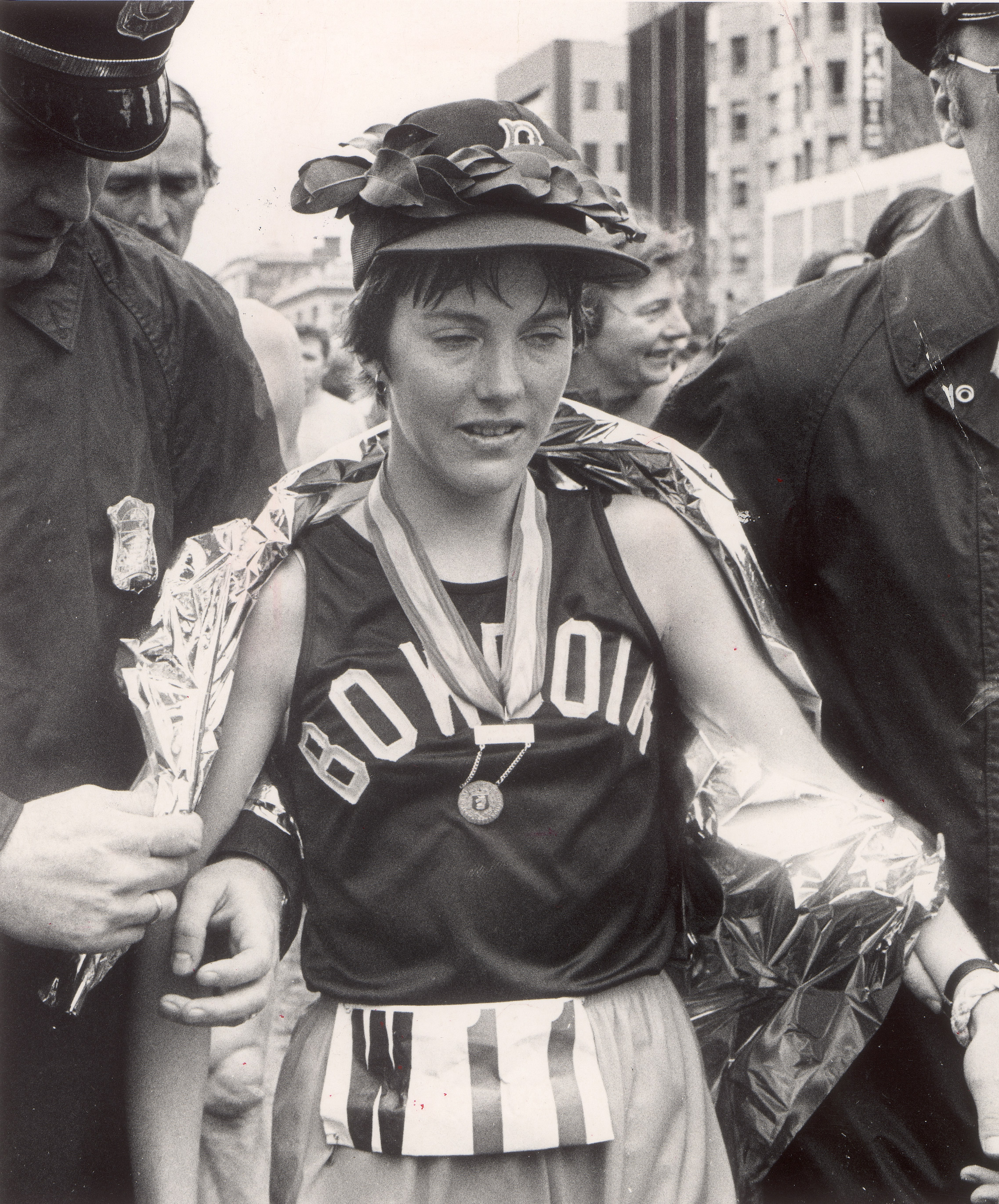 Joan Benoit, the women's winner of the Boston Marathon, April 16, 1979.