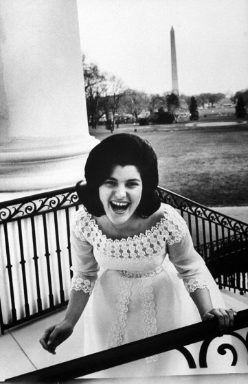 Dressed in new ball gown and laughing about a boy she knows, Luci Baines Johnson, 16, mounts the back-porch steps of her Pennsylvania home.