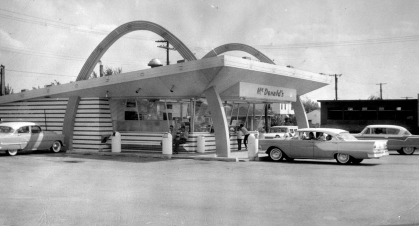The First Indiana McDonald's Opens in Hammond in 1956.