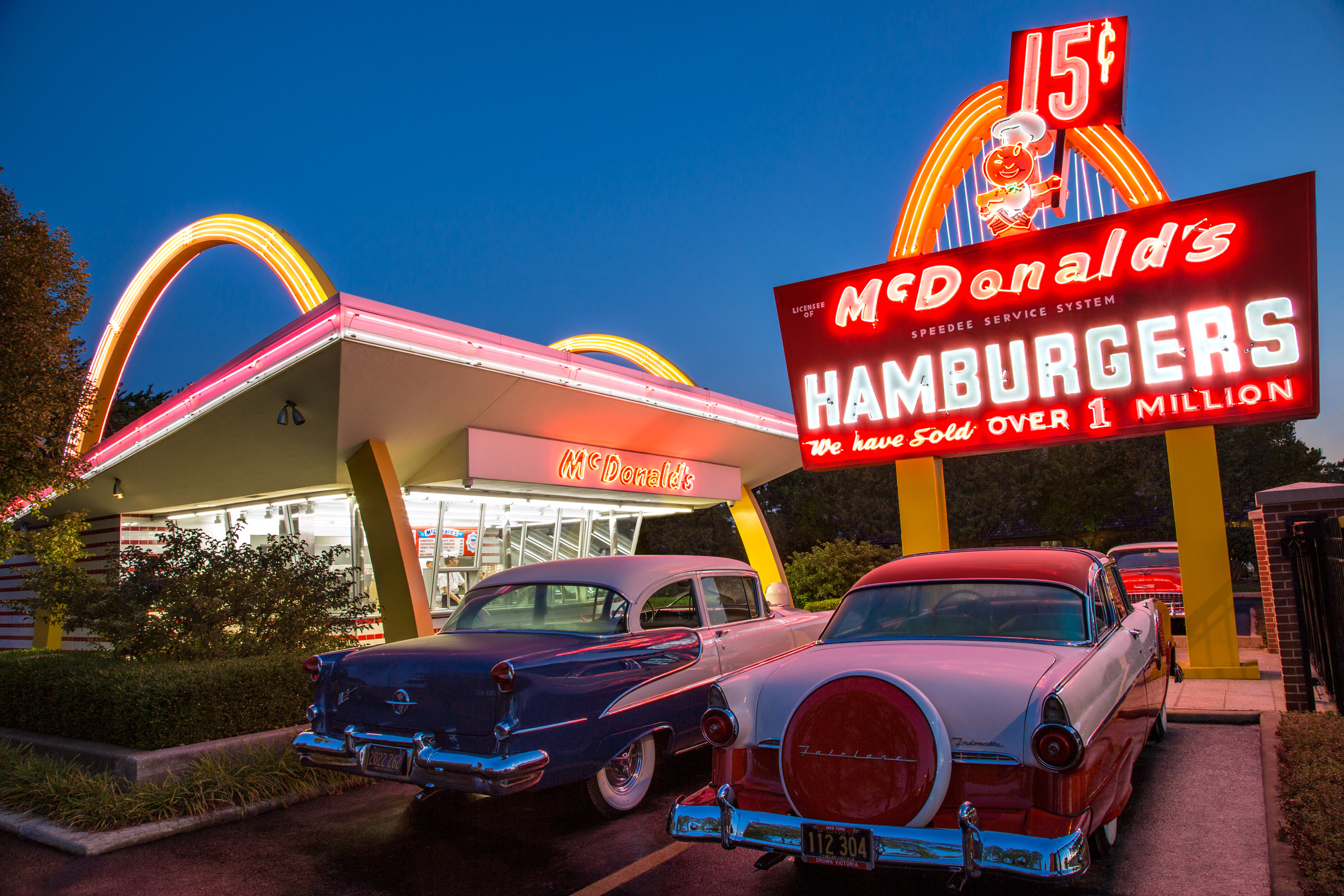 Ray Kroc's first McDonald's Restaurant in Des Plaines, Illinois is restored to its original form and reopens on May 21, 1985 as the McDonald's #1 Restaurant Museum.