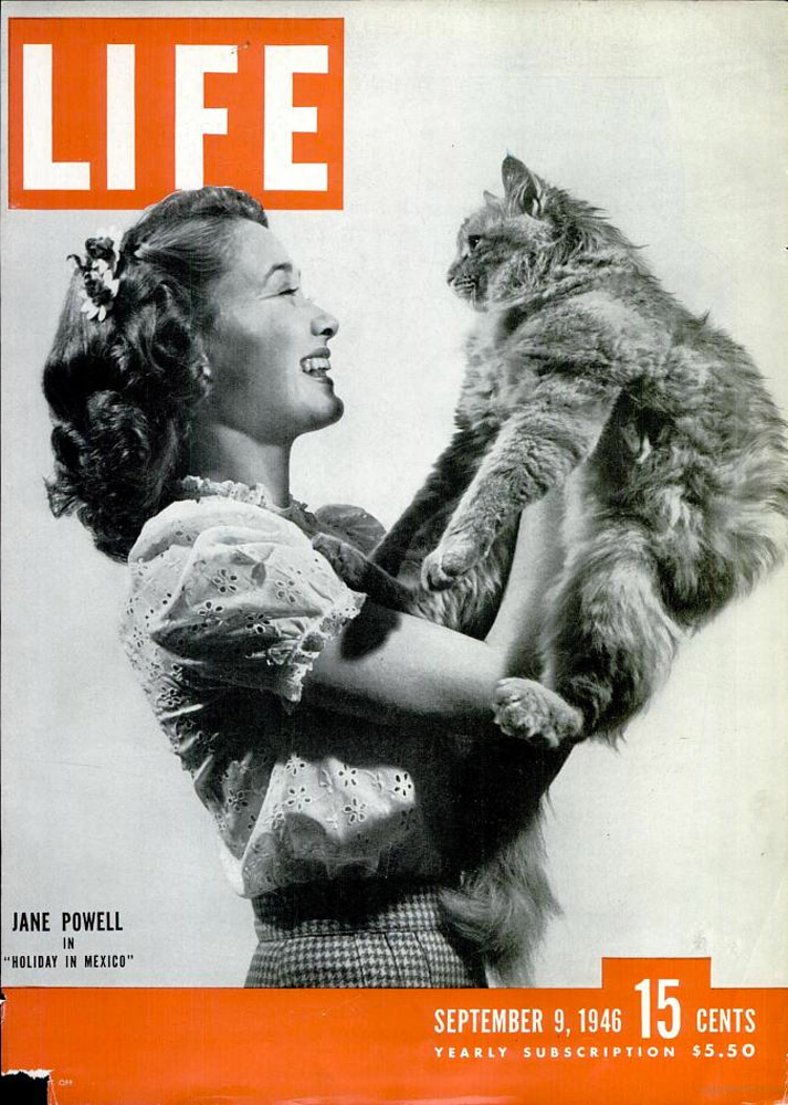 September 9, 1946 LIFE Magazine cover (photo by Martha Holmes).