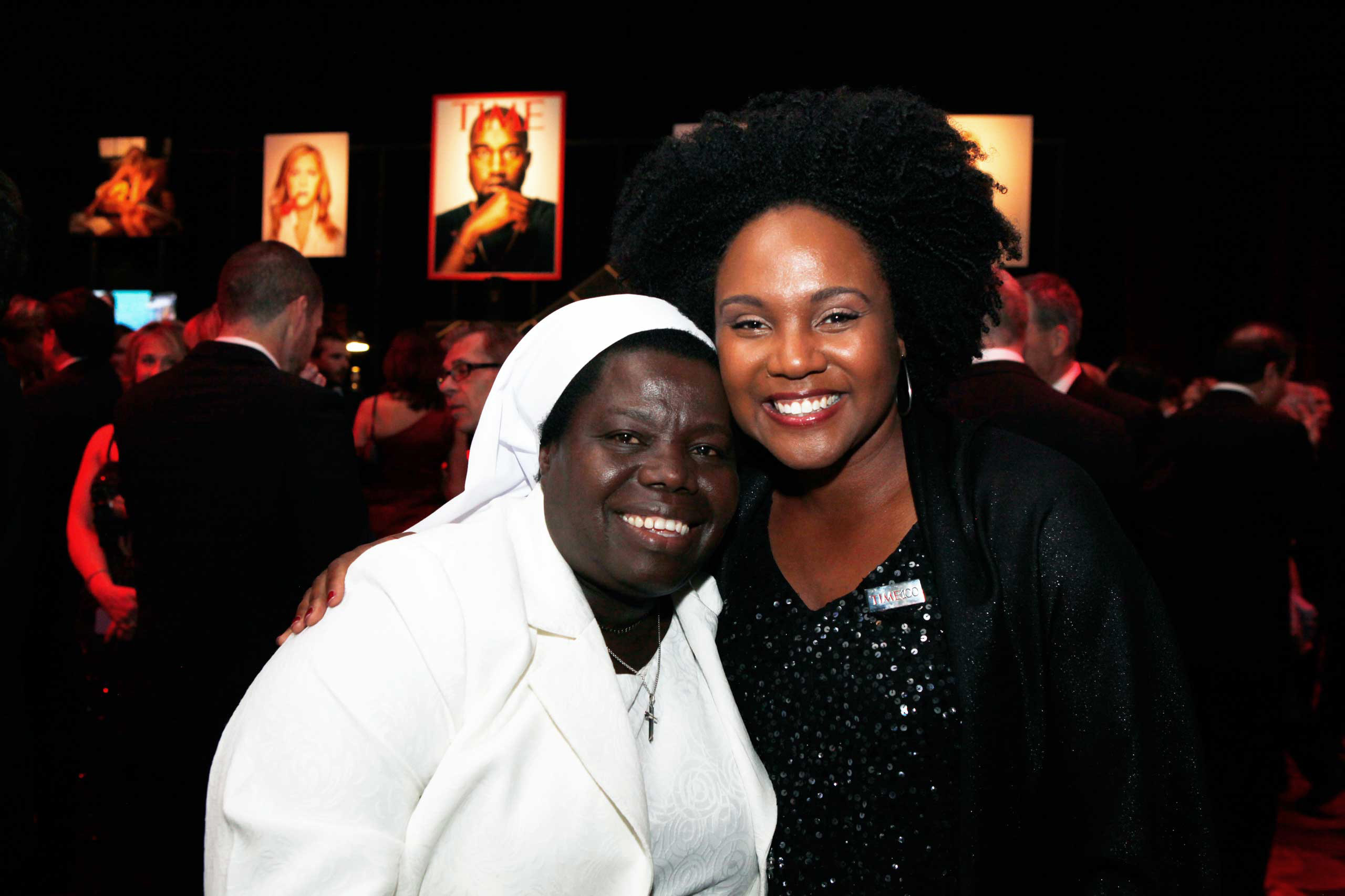 Sister Rosemary Nyirumbe and Kira Orange-Jones attend the TIME 100 Gala at Jazz at Lincoln Center in New York, NY, on Apr. 21, 2015.