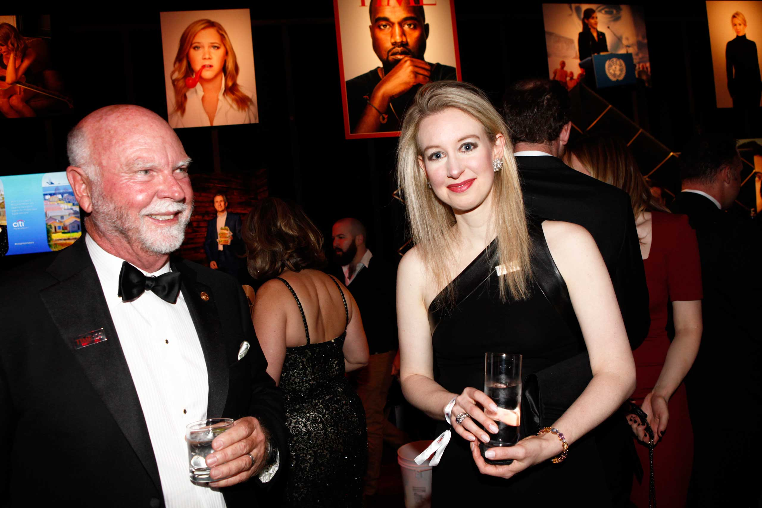 Craig Venter and Elizabeth Holmes attend the TIME 100 Gala at Jazz at Lincoln Center in New York, NY, on Apr. 21, 2015.