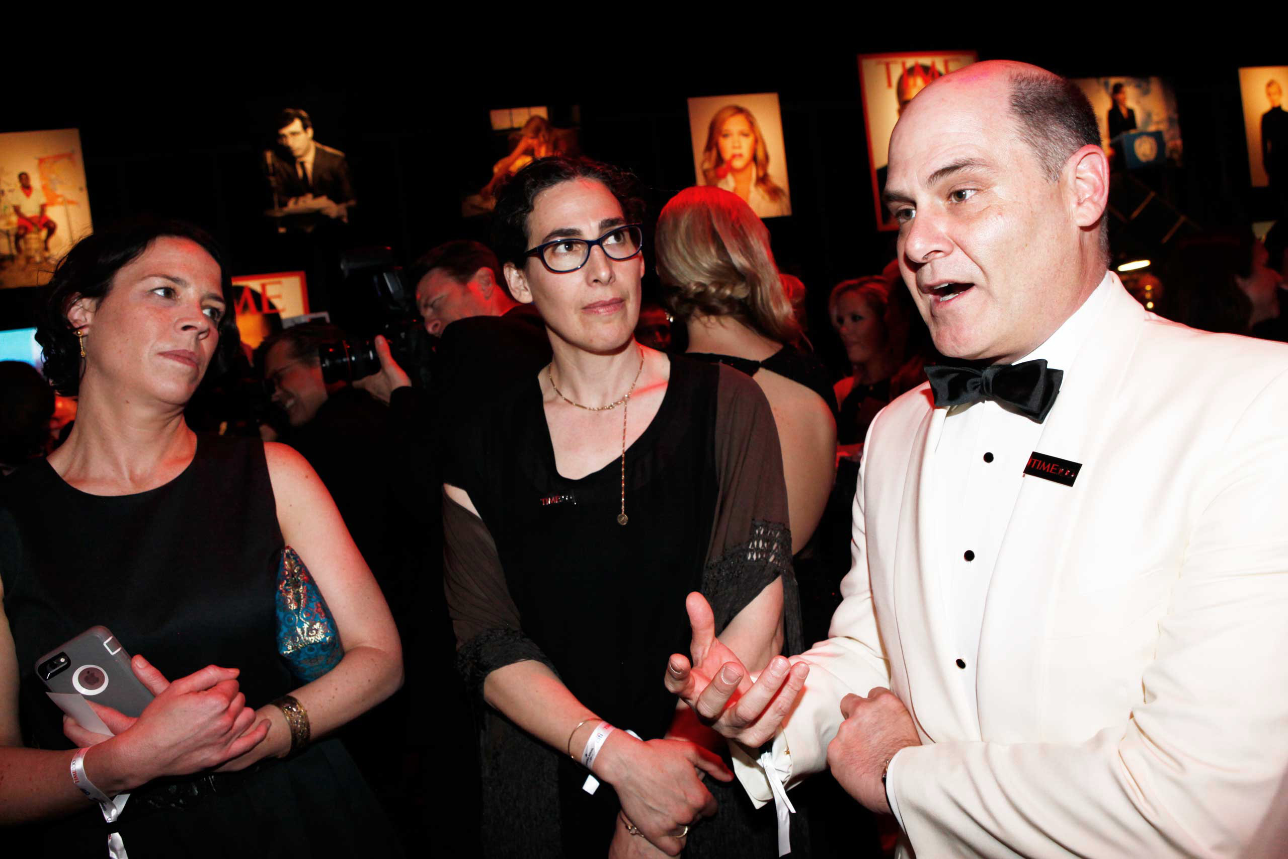 Julie Snyder, Sarah Koenig and Matthew Weiner attend the TIME 100 Gala at Lincoln Center in New York, NY, on Apr. 21, 2015.