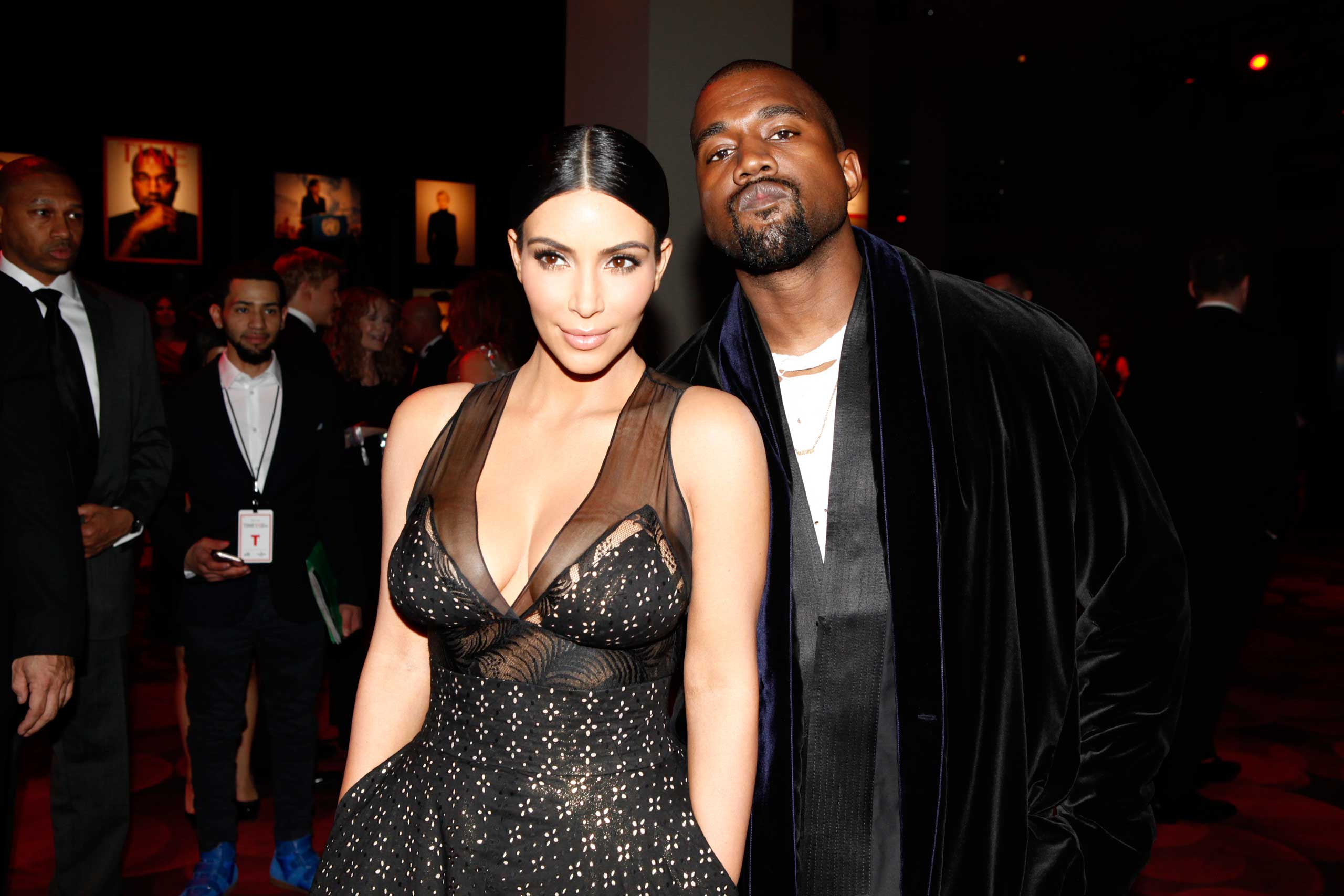 Kim Kardashian West and Kanye West attend the TIME 100 Gala at Jazz at Lincoln Center in New York City on April 21, 2015