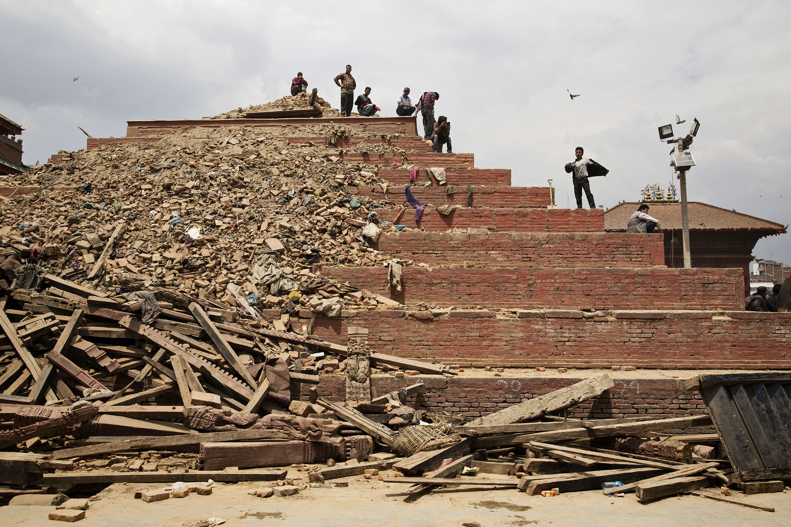 Durbar Square, a UNESCO World Heritage site in Kathmandu's Old City, was severely damaged by the quake.