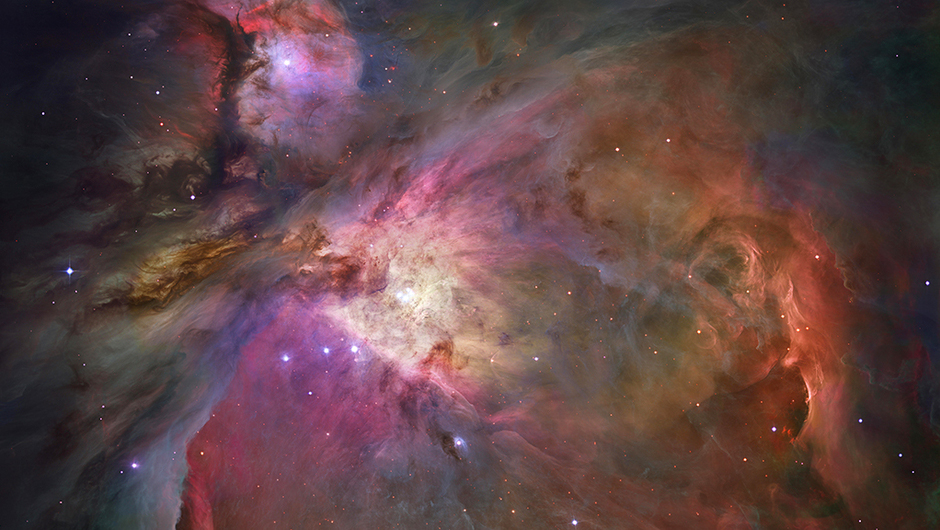 The Orion Nebula:                                                              In one of the most detailed astronomical images ever produced,  Hubble offers a look at a tumultuous region of dust and gas where thousands of stars are being born. Located 1,300 light-years away, the Orion Nebula is the nearest area of star formation to Earth. More than 3,000 stars of various sizes appear in this image. Astronomers used 520 Hubble images, taken in five colors with Hubble's Advanced Camera for Surveys, to make this picture.                                                              Image released on Jan. 11, 2006