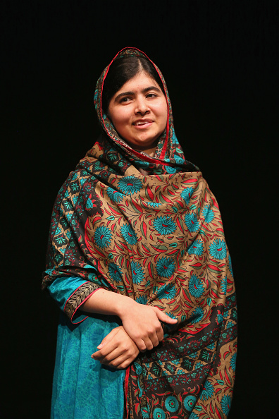 Malala Yousafzai during a press conference in Birmingham, England on Oct. 10, 2014.