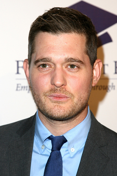 Singer Michael Buble attends the 20th annual Fulfillment Fund Stars benefit gala in Beverly Hills, Calif. on Oct. 14, 2014.