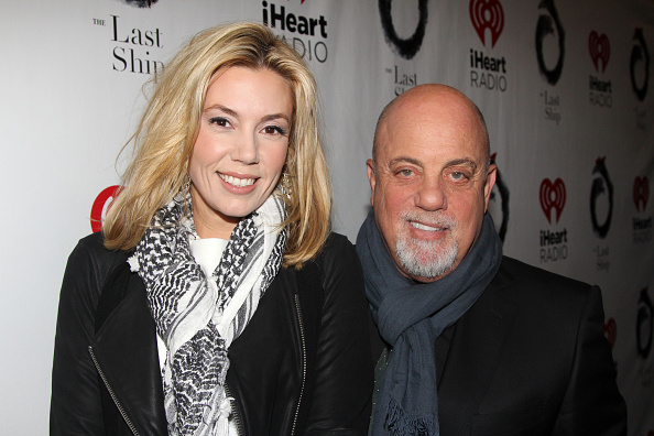 Alexis Roderick and Billy Joel pose at the opening night of The Last Ship at the Neil Simon Theatre in New York City on Oct. 26, 2014