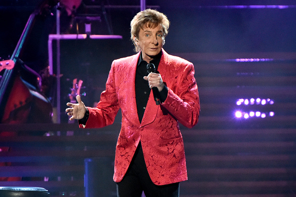Barry Manilow performs on stage during the One Last Time Tour at United Center in Chicago on Feb. 14, 2015
