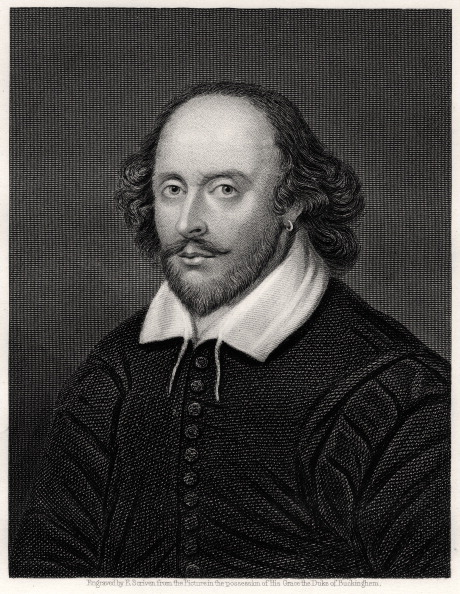 19th century portrait of William Shakespeare, English playwright.